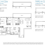 Poiz Residence Floor Plans 3 Bedroom Premium Habitat C2a