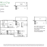 Poiz Residence Floor Plans 3 Bedroom Urban C1