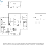 Poiz Residences Floor Plans 3 Bedroom Compact Habitat C1