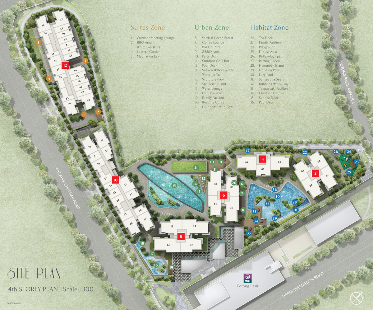 The Poiz Residences Site Plan | The Poiz Site Layout Plan