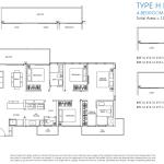 Poiz Residence Floor Plan 4 Bedroom Habitat D1a