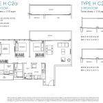 Poiz Residence Floor Plans 3 Bedroom Premium Habitat C2a